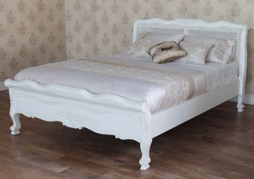Louis Rattan Bed with Low Footend